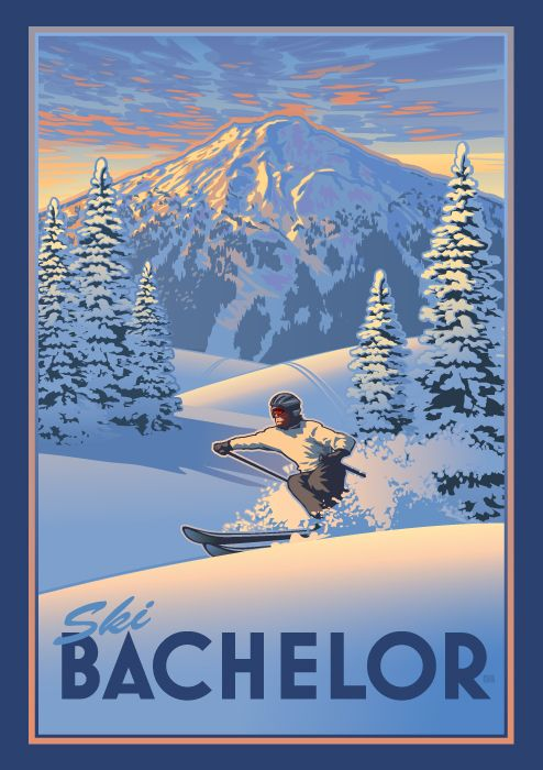 mt. Bachelor skiing posters - Google Search