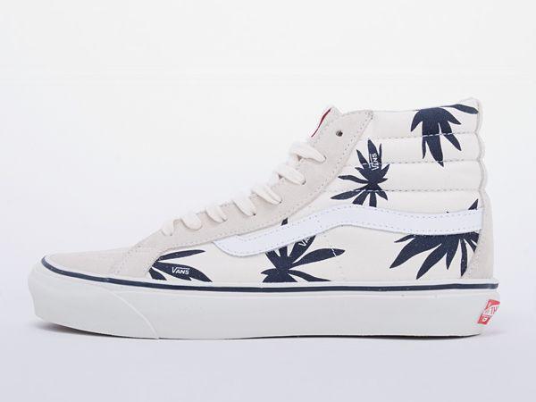 Vans Vault SK8-HI LX Palm Leaf White