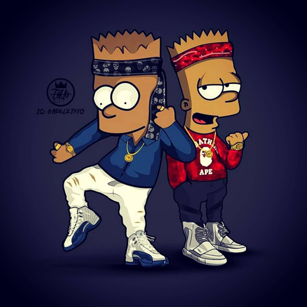 Download Supreme Bart Wallpaper By Treyswags03 59 Free