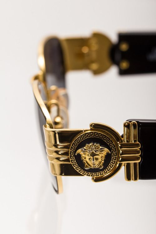 Black And Gold Versace Glasses