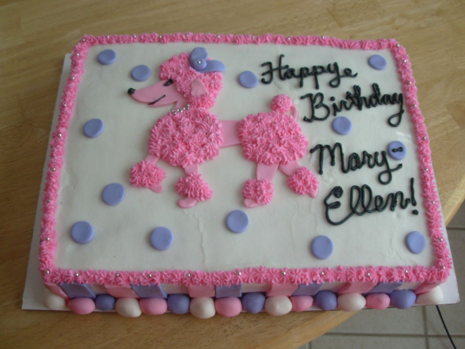 Magnificent Pink Poodle Birthday Cake Pink Poodle Cake Childrens Birthday Funny Birthday Cards Online Aeocydamsfinfo