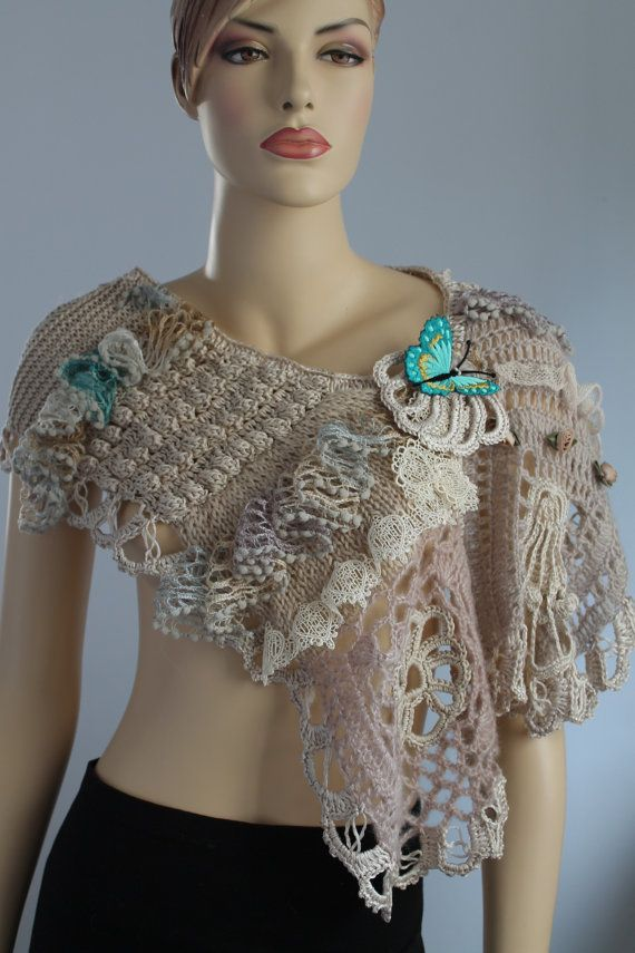 Freeform Crochet Delicate Scarf Stole Wearable by levintovich ...