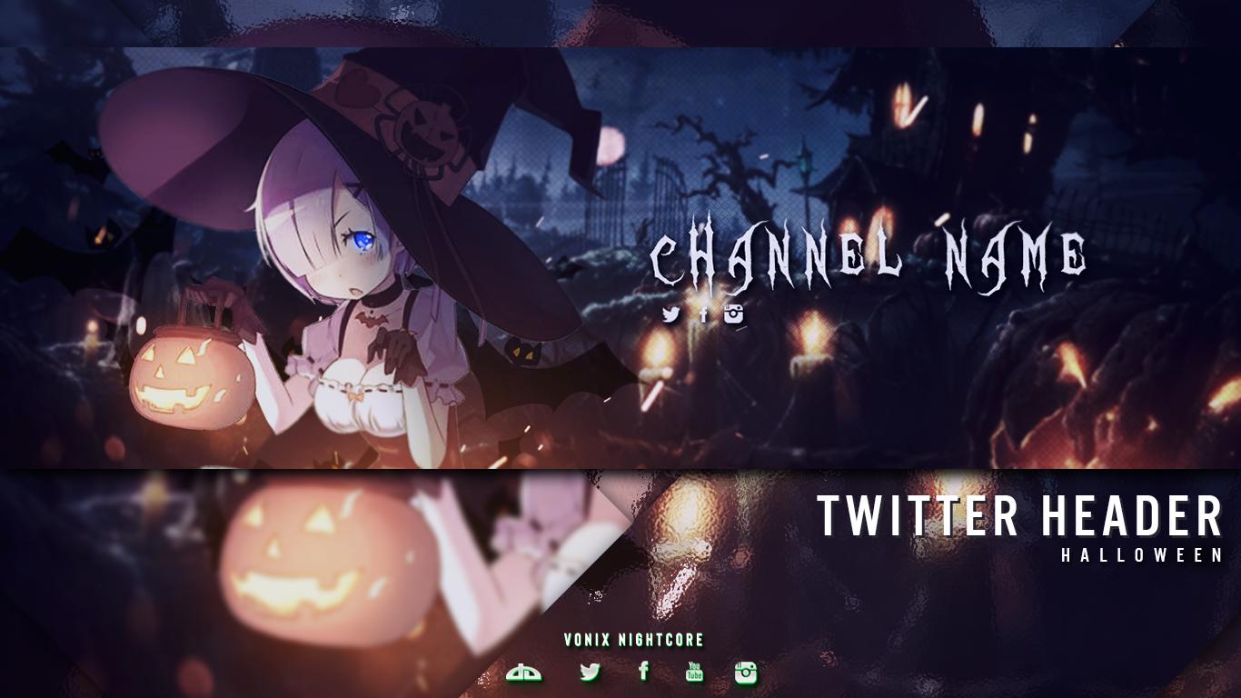 Free Anime Twitter Header Halloween Theme If you like