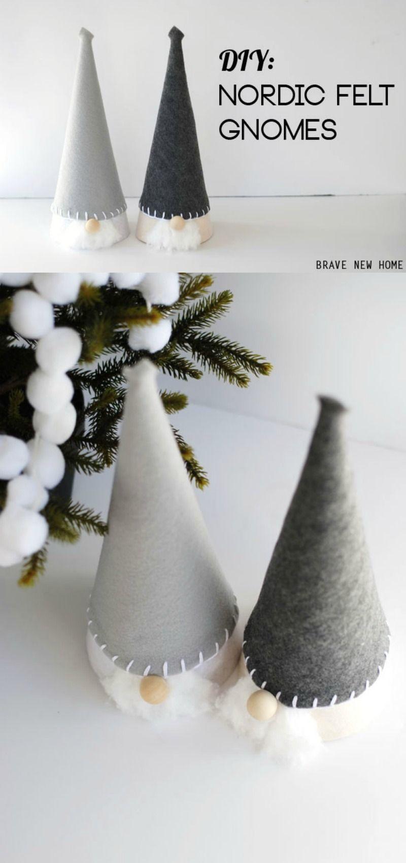 Christmas Gnomes Diy.Diy Nordic Felted Christmas Gnomes Bloggers Best Diy