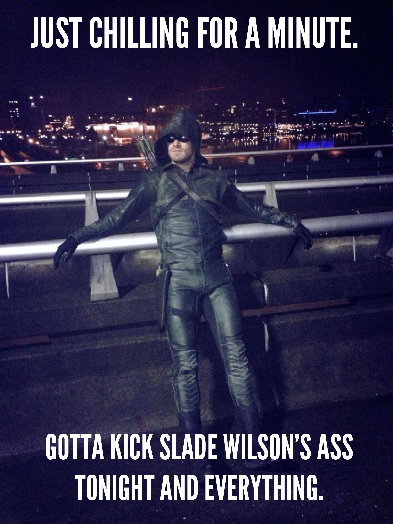 Another Arrow meme. Stephen Amell liked this one, so yay