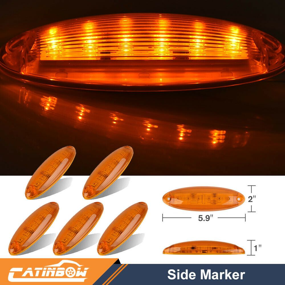 Ebay Sponsored 5pcs Cab Clearance Roof Running Top 6 Led Amber Light For Freightliner Cascadia Freightliner Cascadia Freightliner Cascadia