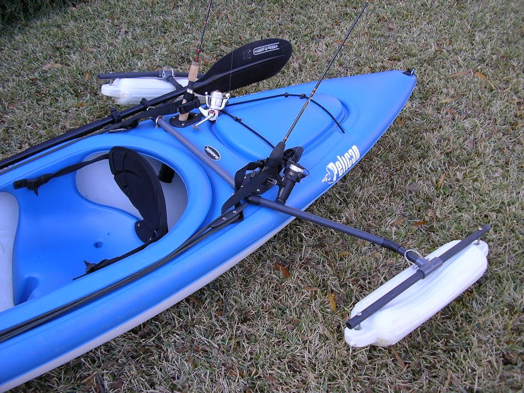 Anyone designed a outrigger system kayak fishing for Fishing kayaks for sale cheap
