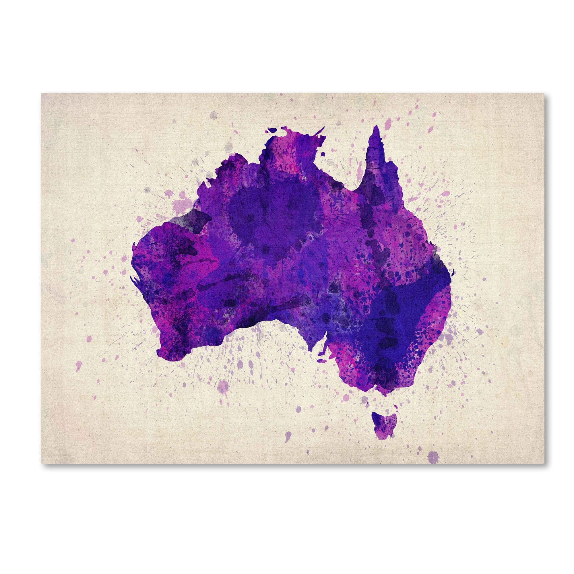 Australia Paint Splashes Map\' by Michael Tompsett Framed Painting ...