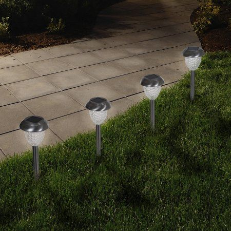 6 LED Solar Powered Outdoor Garden Path Lighting Yard Lawn Road Lights Lamp NEW