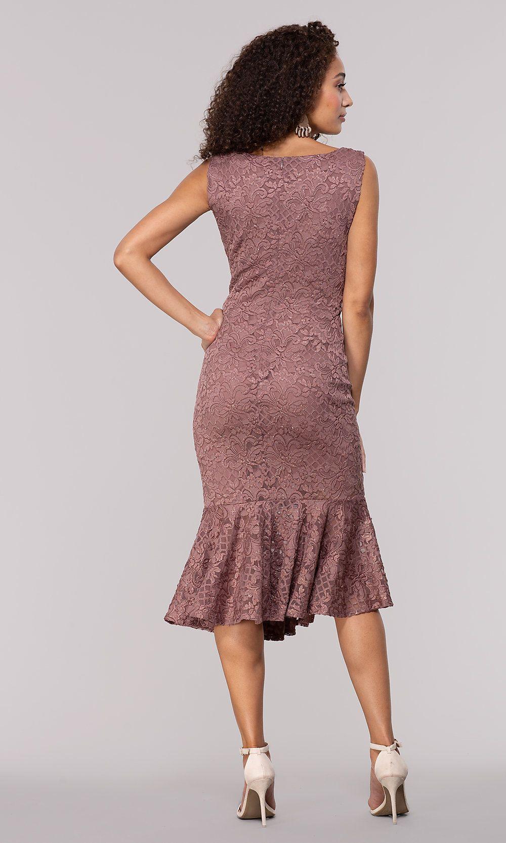 Knee Length Glitter Lace Wedding Guest Dress Dresses Wedding Guest Dress Beautiful Party Dresses [ 1666 x 1000 Pixel ]