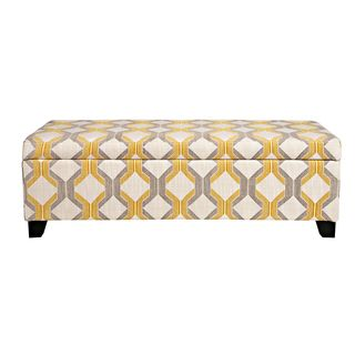 Swell Brooke Nouvea Designer 10 Button Tufted Storage Bench Theyellowbook Wood Chair Design Ideas Theyellowbookinfo