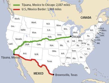 United StatesMexicoborderwallProgresoLakesTexas Search - Us border fence map