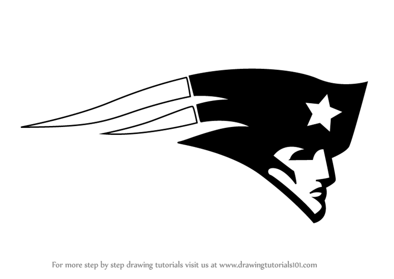 Learn How To Draw New England Patriots Logo Nfl Step By Step Drawing Tutorials New England Patriots Logo Patriots Logo New England Patriots
