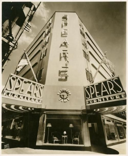 Spears Furniture Queens Nyc New York Historic 1930s Photo Art Deco Architecture Queens New York Art Deco Buildings