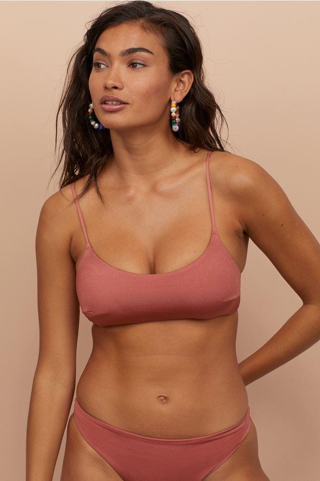 saltar mano ornamento  Bikini Top - Dusty rose - Ladies   H&M US in 2020   Bikini tops, Bikinis,  Bikini fashion