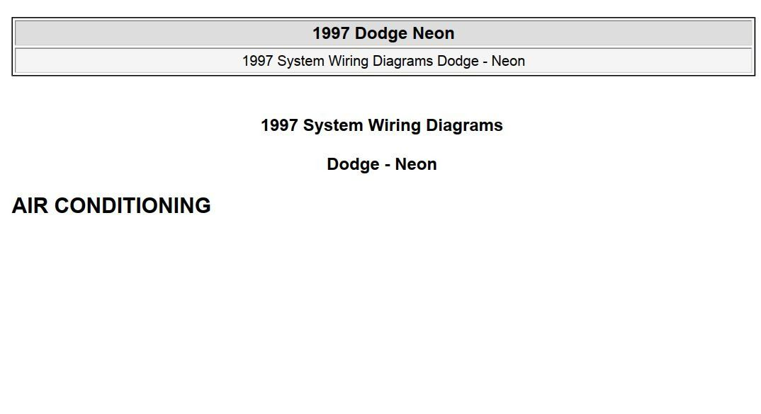 [ZTBE_9966]  New post (Dodge Neon 1997 System Wiring Diagrams) has been published on  ProCarManuals.com https://procarmanuals.com/dodge-neon-1997-system-wi… |  Dodge, Neon, System | 1997 Dodge Neon Wiring Diagram |  | Pinterest