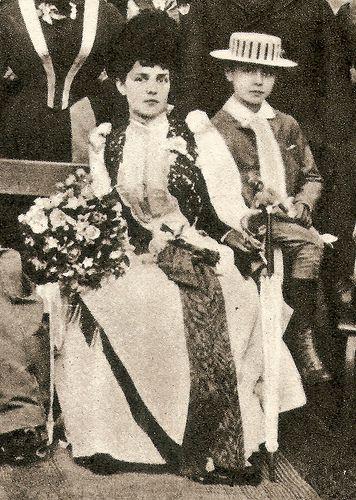 Lady Randolph Churchill & her eldest son, 1886