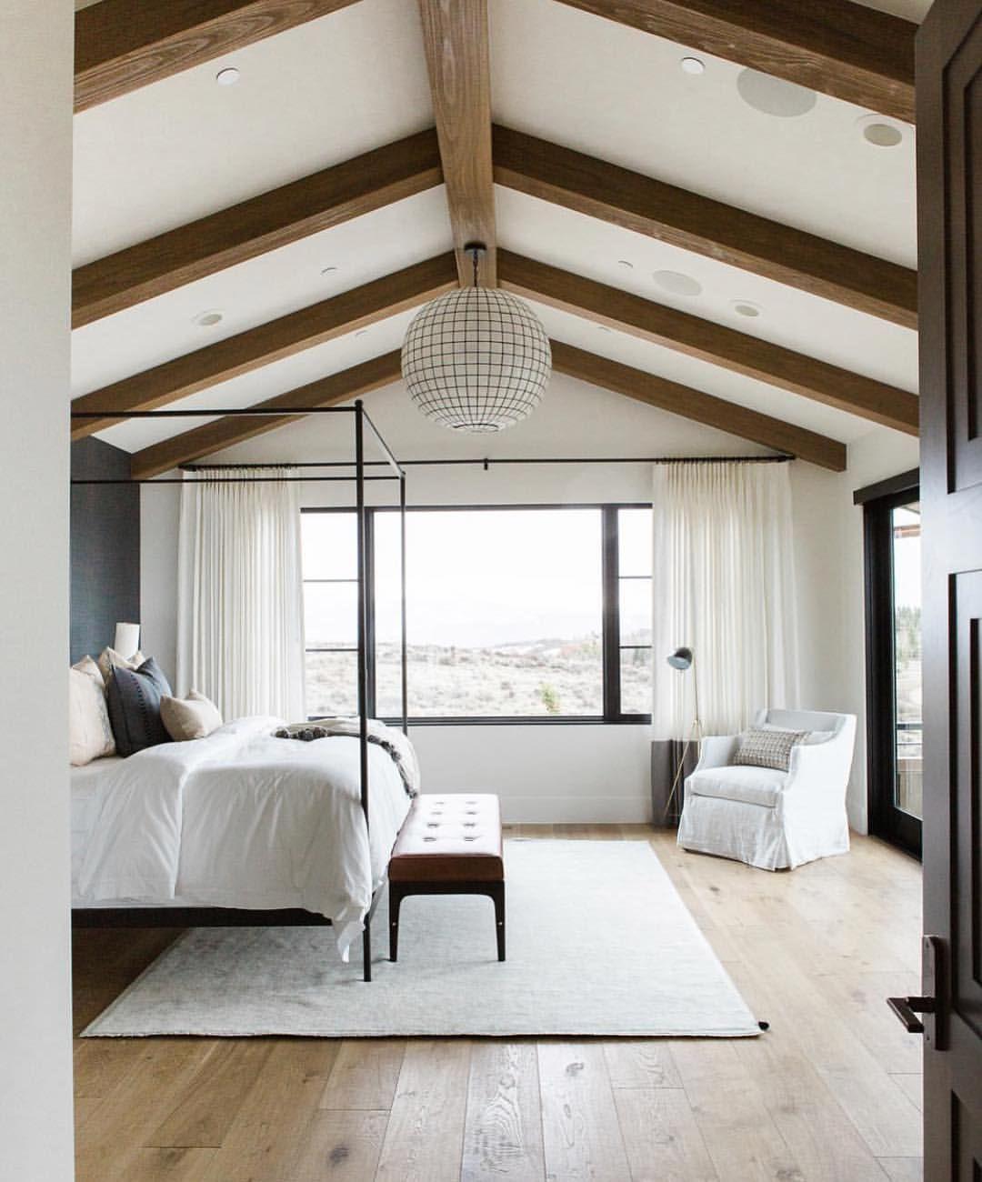All my master dreams in one room! Wide plank wood floors simple ...