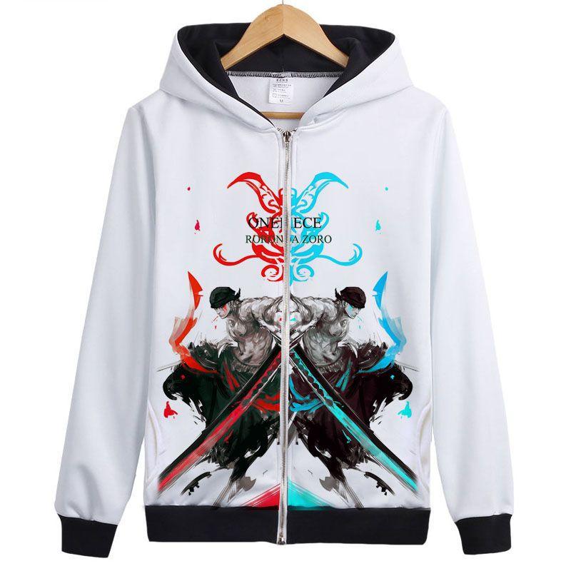 Click to Buy << NEW One piece RORONOA ZORO hoodie ZORO suolo5 Sexy