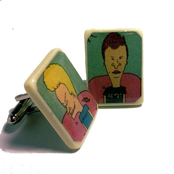 30ddd650f717b Beavis and Butthead Cuff Links Comic Accessories by knuckletoes (Accessories