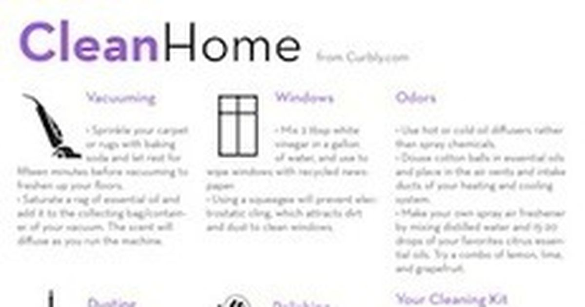Home Cleaning Check List And Cheat Sheet