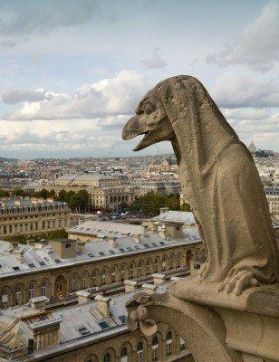 Gargouilles Notre Dame De Paris : gargouilles, notre, paris, Gargouille, Pierre, Cathédrale, Notre, Regardant, Ville, Paris,, France, Gargouille,, Cathedrale, Dame,