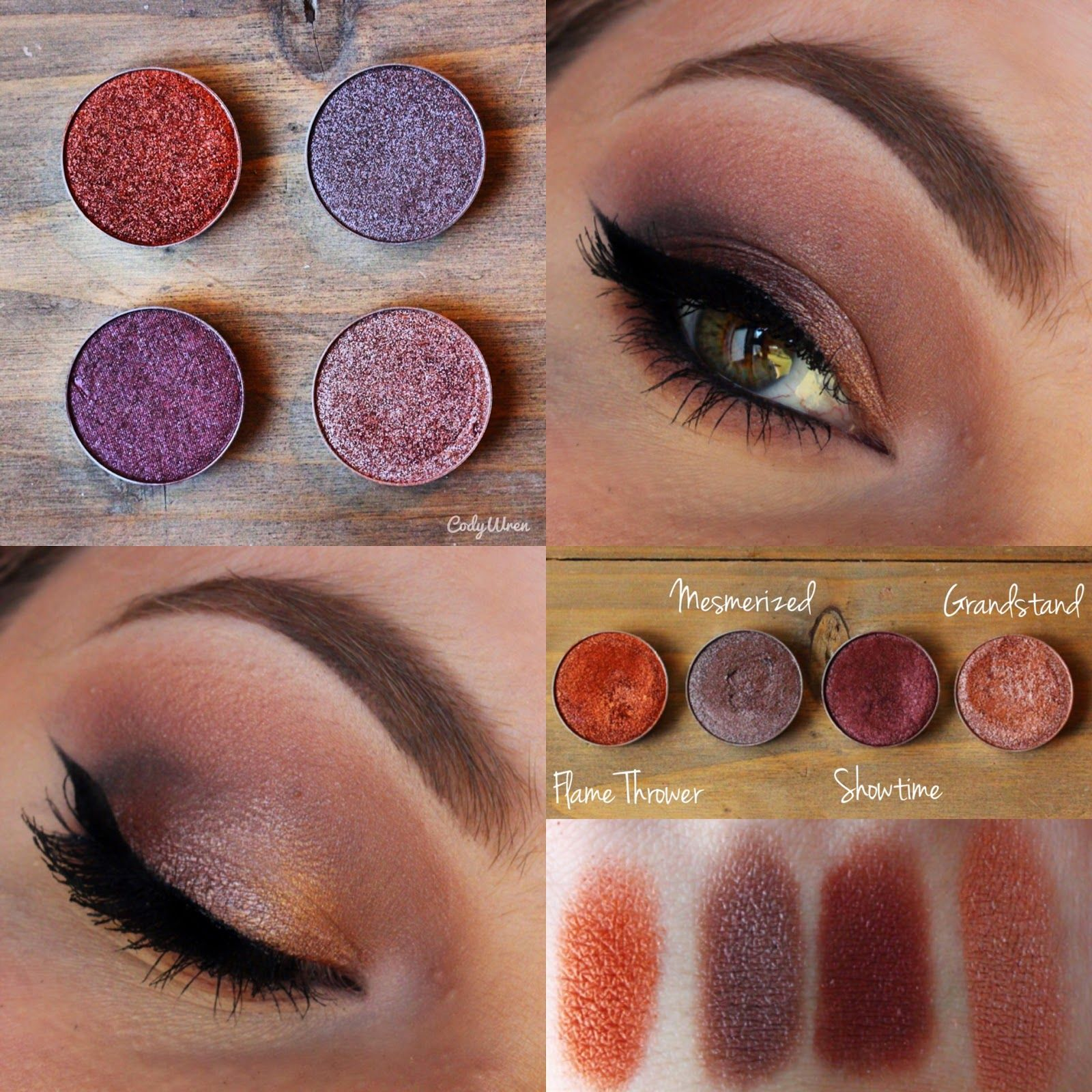 #codywren www.codywren.me Makeup Geek Cosmetics Foiled Shadows {Review & Swatches}.