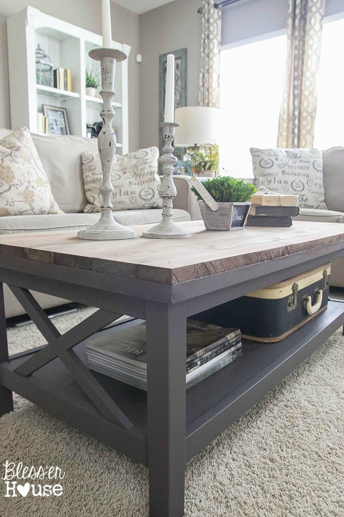Barn Wood Top Coffee Table Bless Er House Gorgeous Way To