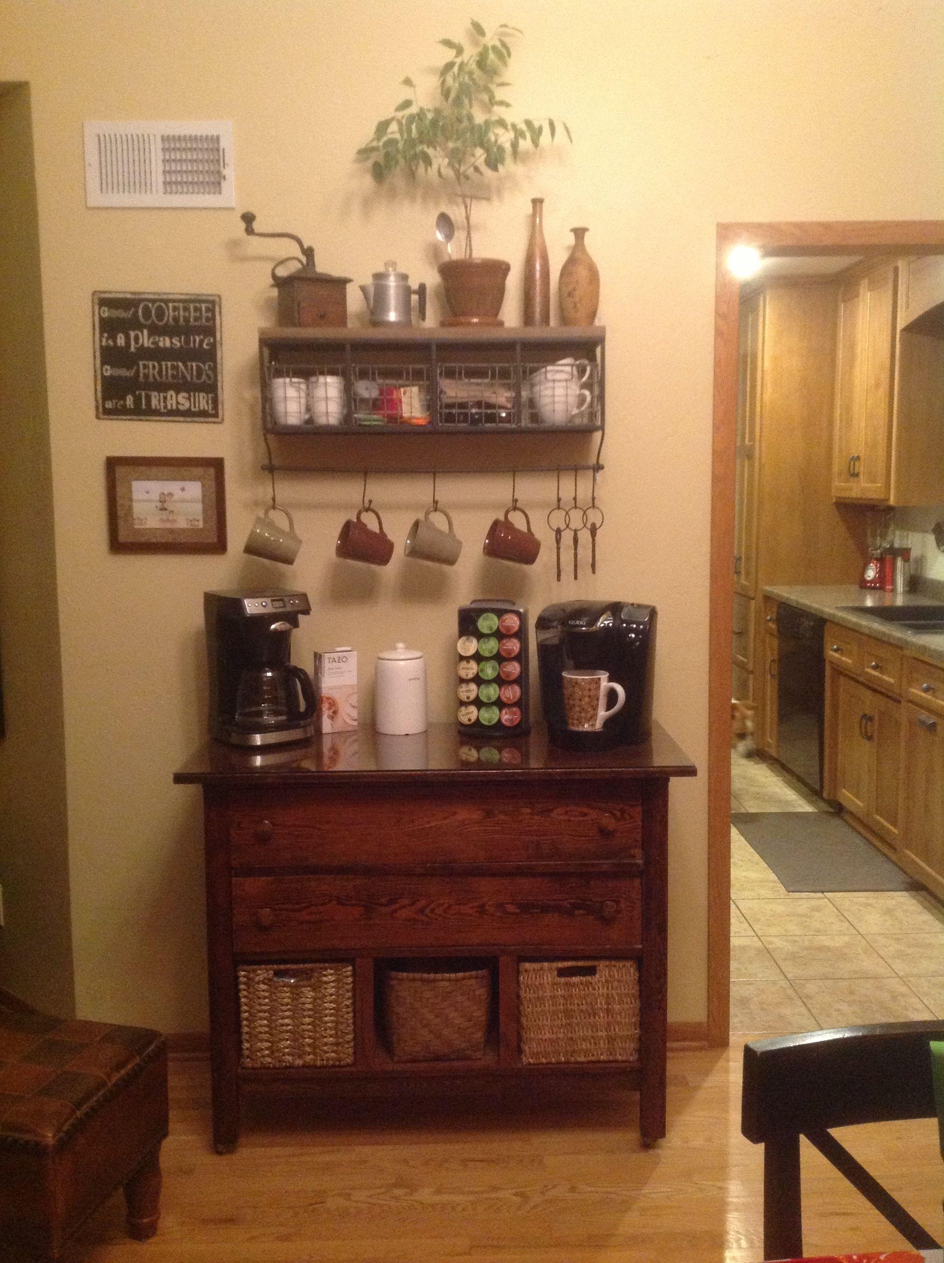 Awesome Corner Coffee Bar Cabinet