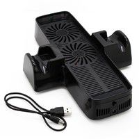 Cooler For Xbox360 3 In 1 Usb Cooling Station Console Controller Stand