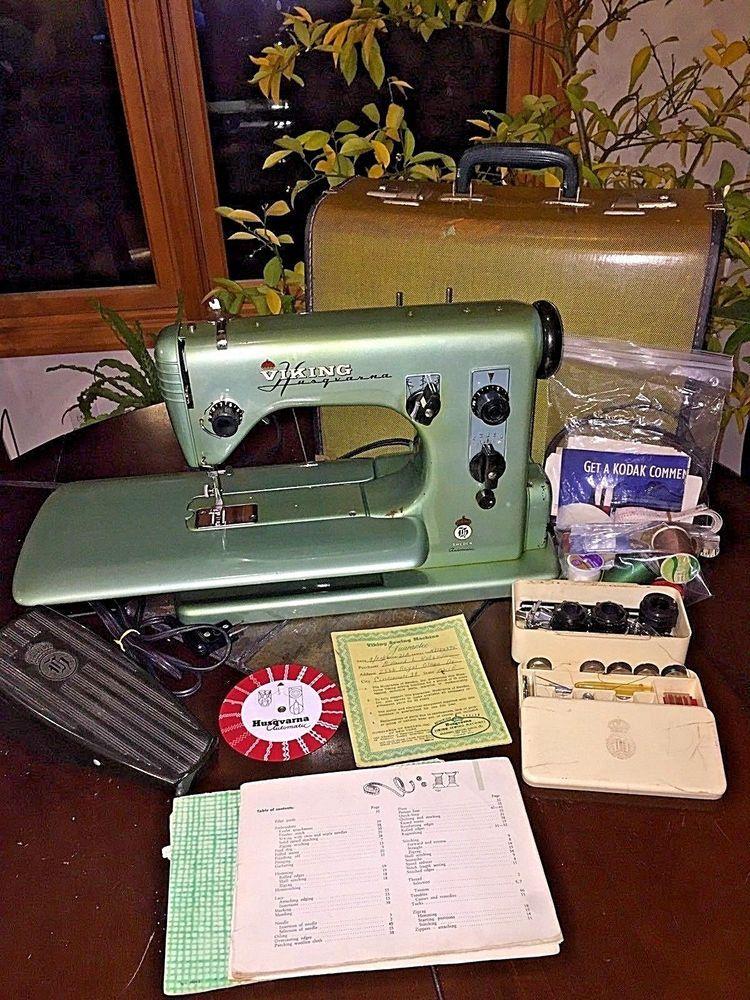 Vintage Viking Husqvarna Sewing Machine CL 40 A Set 4040 Amp Free Arm Enchanting Vintage Viking Sewing Machine