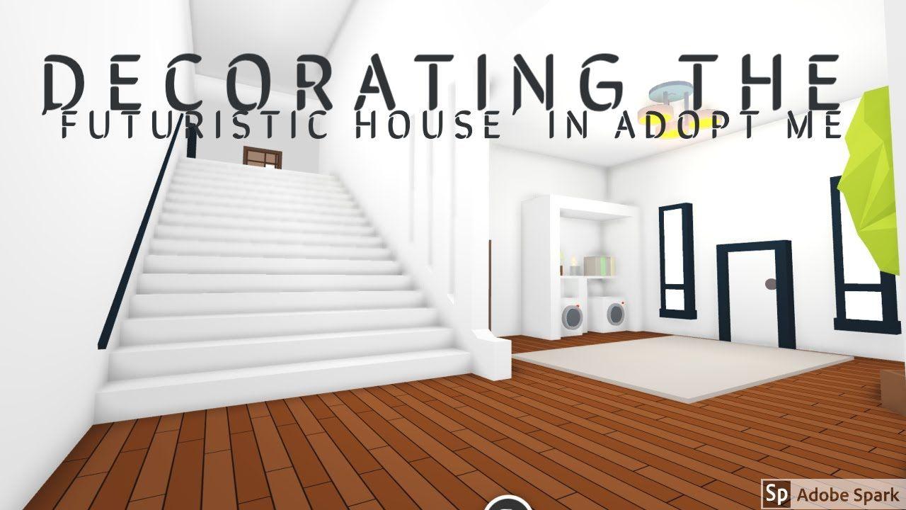 Building My Futuristic House Roblox Adopt Me Part 1 Youtube Futuristic Home Cool House Designs Cute Room Ideas