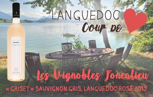 Voici notre coup de cœur de la semaine ! Ce joli rosé du Languedoc, produit par Les Vignobles Foncalieu, nous offre une finesse, une fraîcheur et une légèreté incomparables. Il sera idéal servi à un apéritif entre amis !  C'est un de nos best-sellers, et on sait pourquoi ;)  Retrouvez-le ici : http://goo.gl/zyBfCp.