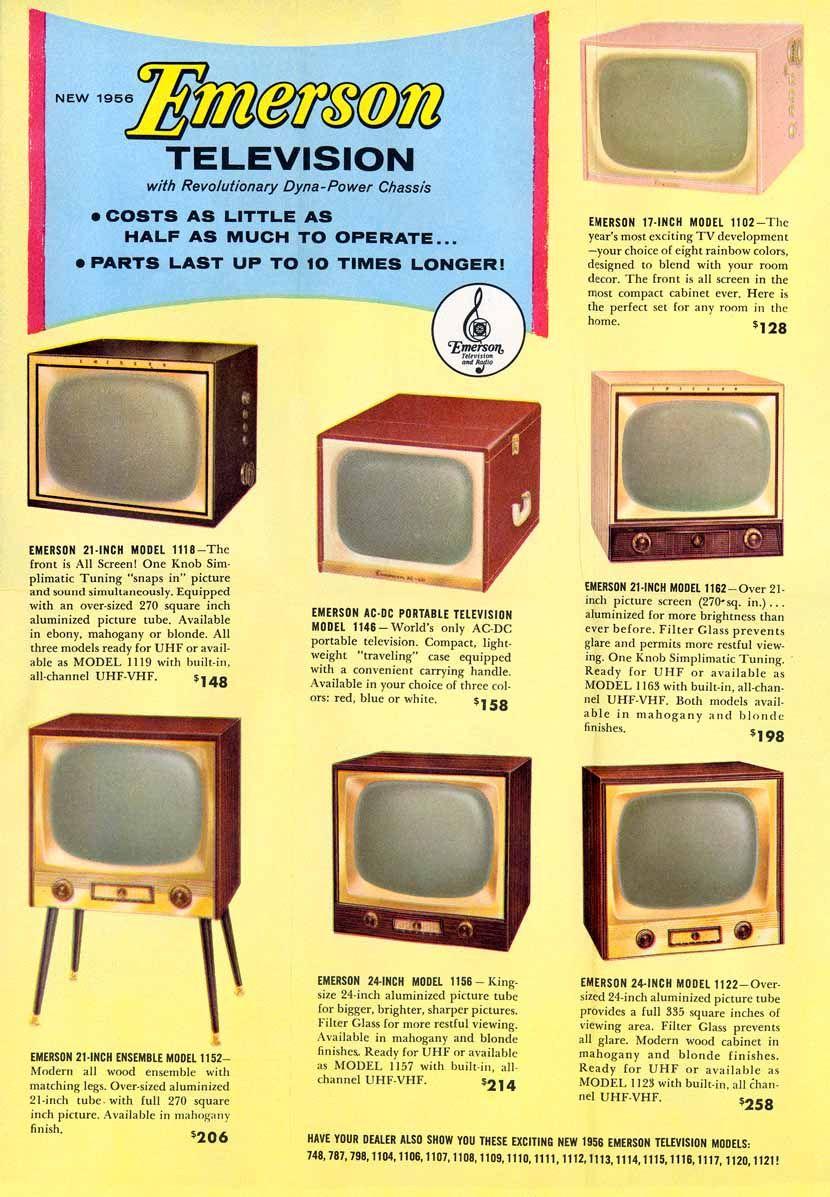 1956-Emerson-Brochure-   Nostalgia   1950s ads, Nintendo consoles