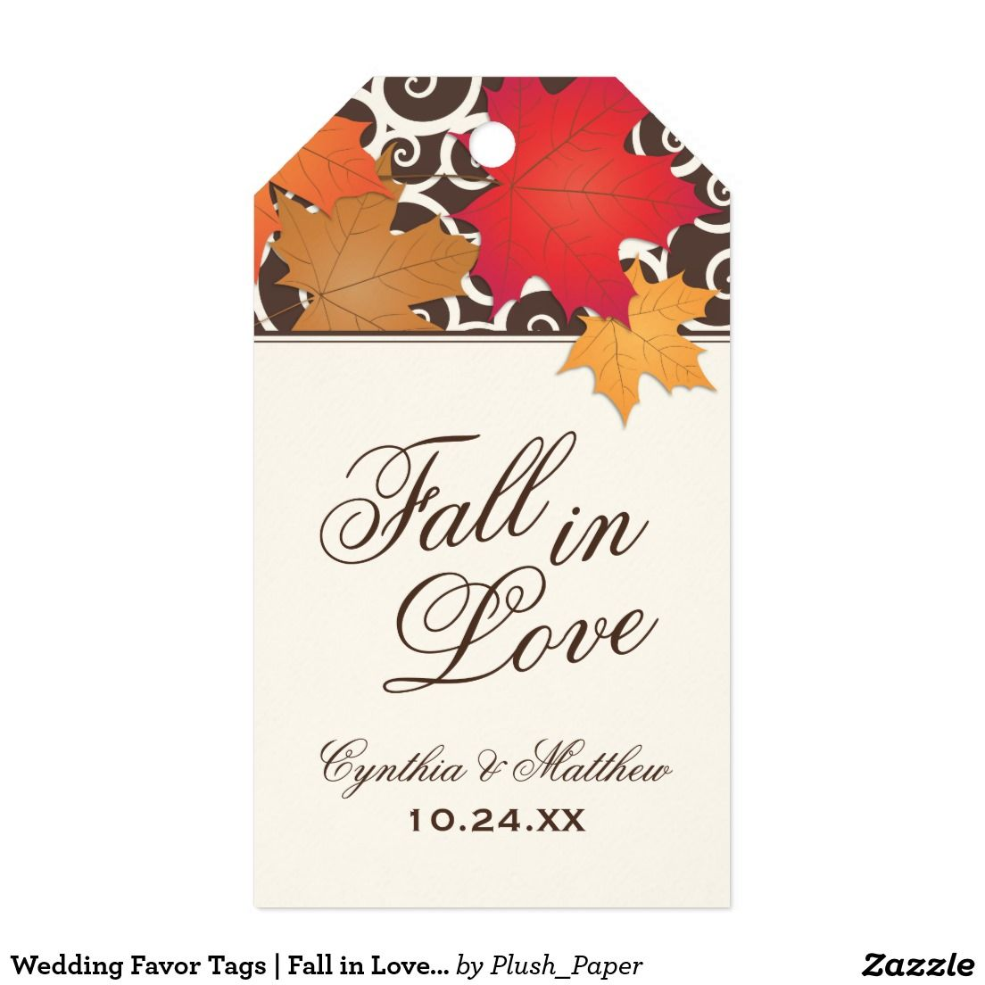 Wedding Favor Tags | Fall in Love Theme | Wedding favor tags and Favors