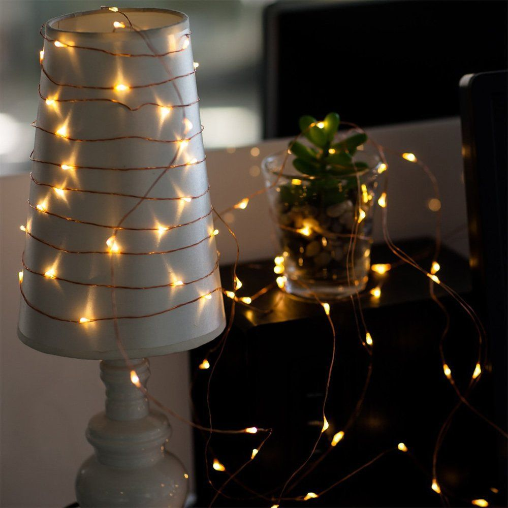 Fairy Lights Battery Operated For Bedroom Indoor Outdoor Warm White 60 Leds 20f Timer Copper Wire Lights Pack Of 3 Set Fairy Lights Copper Wire Lights Outdoor Fairy Lights