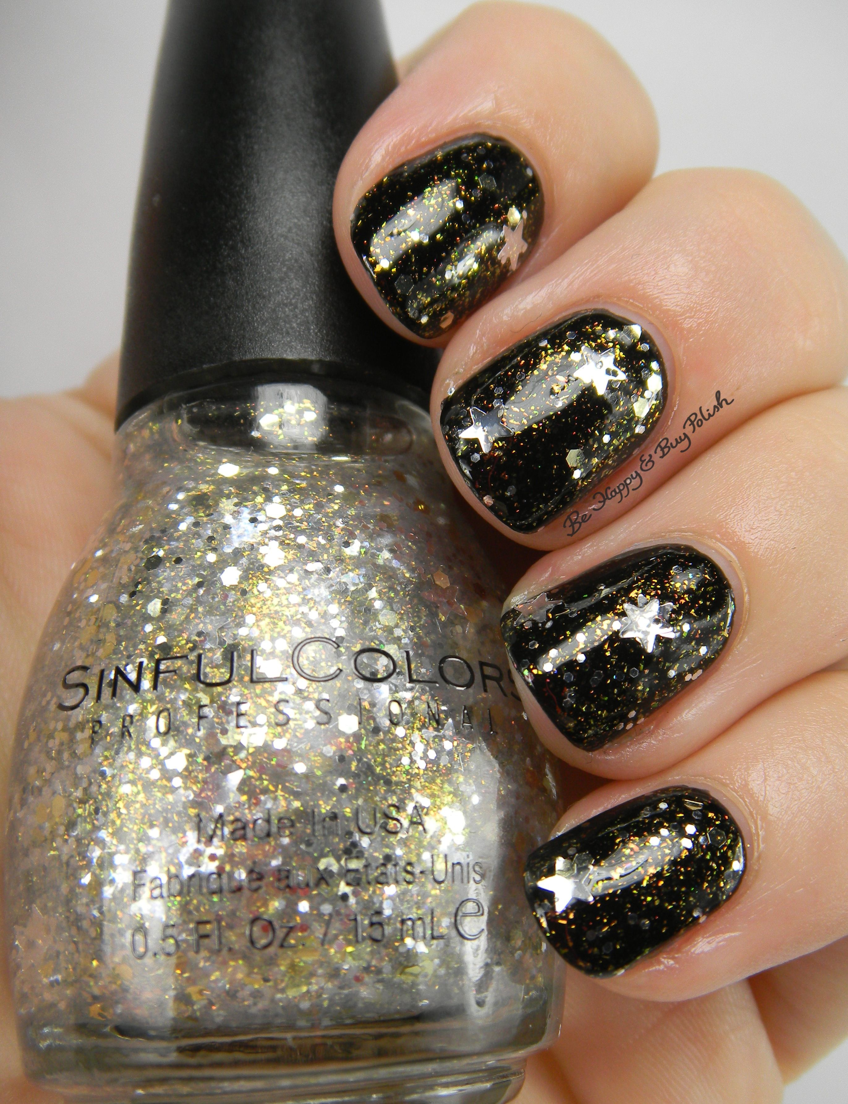 Sinful Colors Star Studded over Black on Black   Be Happy And Buy ...