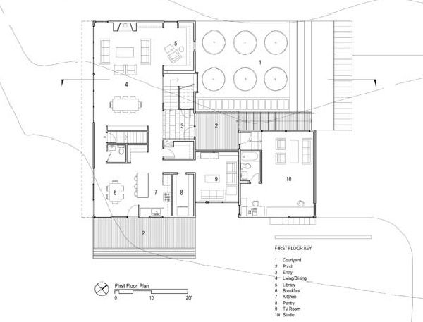 Simple contemporary courtyard house plan that you want Courtyard house plans