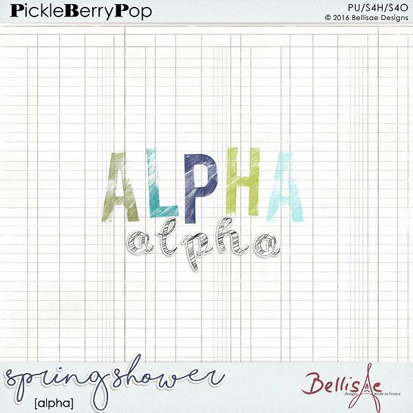 SPRING SHOWER | alpha by Bellisae Designs