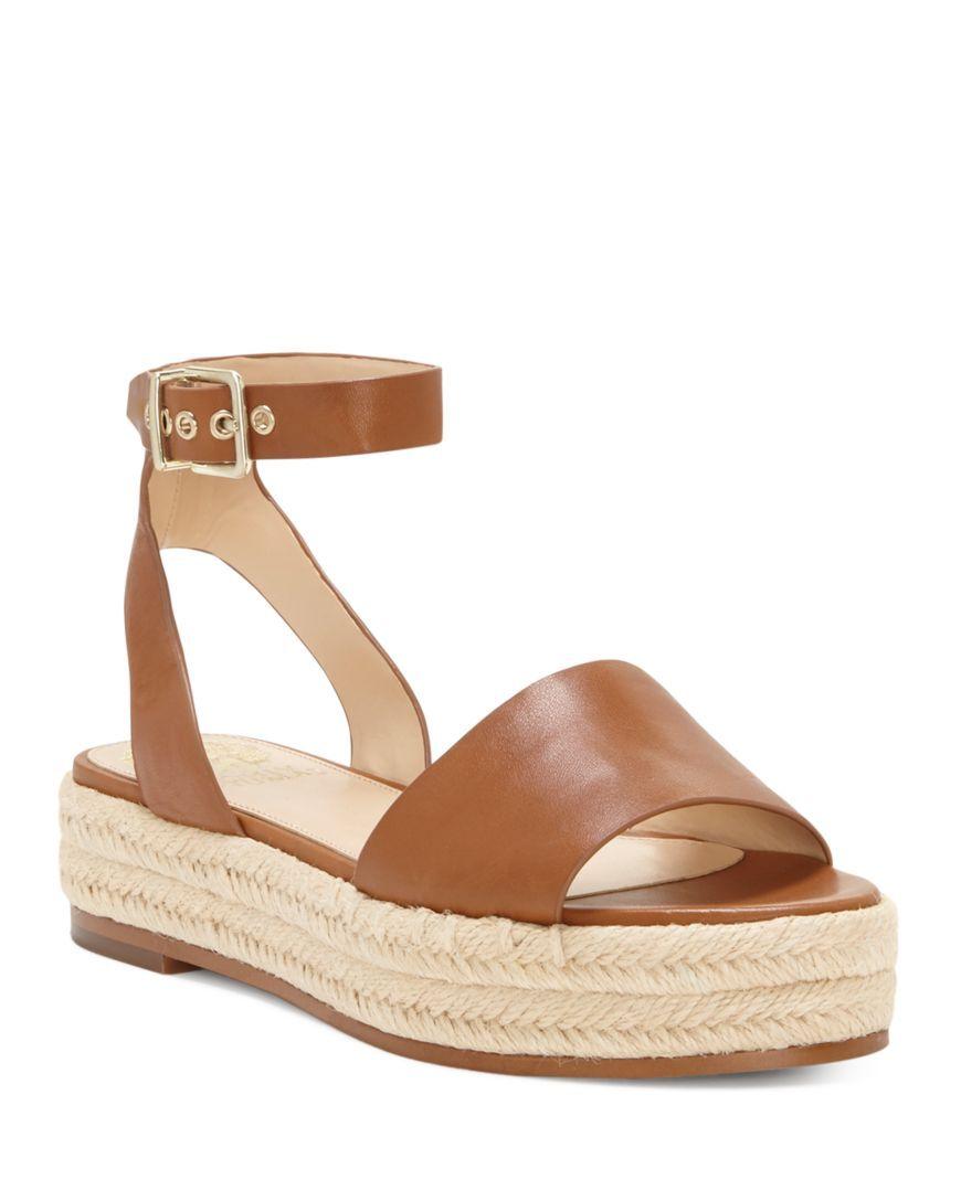 5cdb6b66ed94 VINCE CAMUTO Women s Kathalia Leather Platform Espadrille Sandals ...