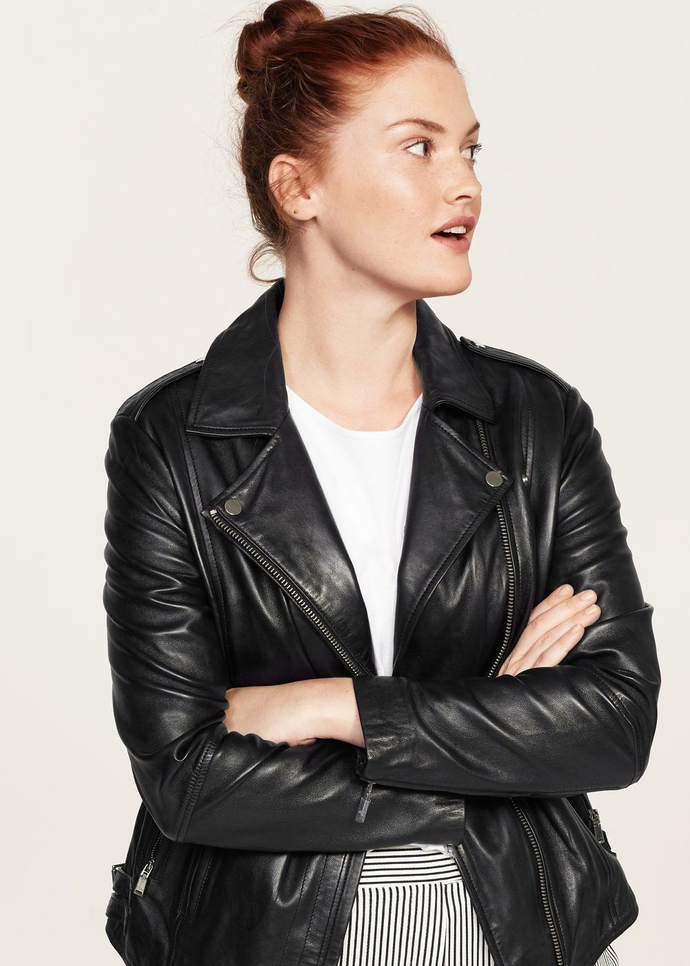 Cazadora Biker Piel Tallas Grandes Violeta By Mango Espana Leather Jacket Girl Womens Biker Jacket New Orleans Fashion