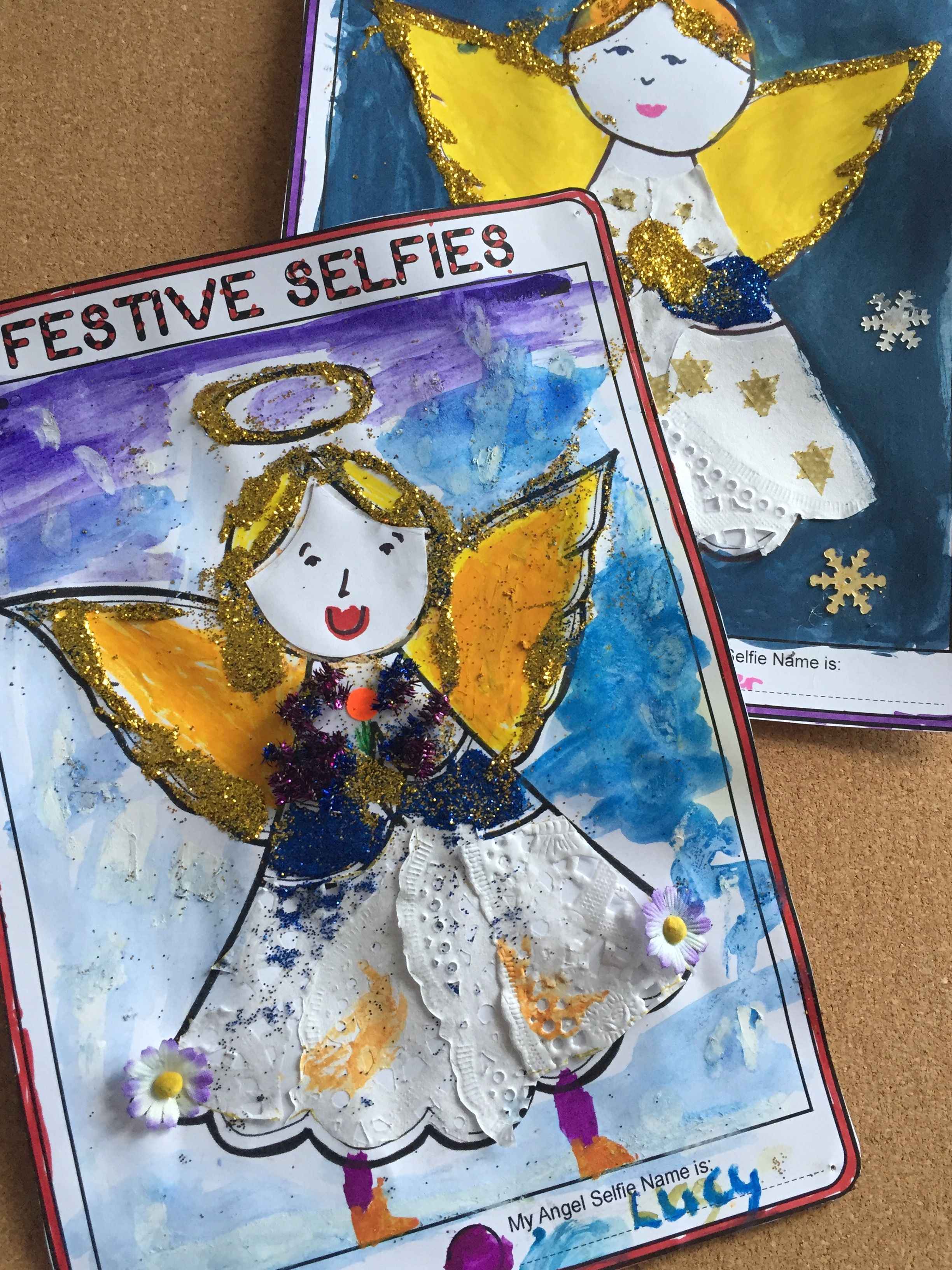 This Selfie Angel Is Part Of A 7 Tablet Style Christmas Template Pack Encouraging Kids To Have Fun And Think Imaginatively At Home Or School