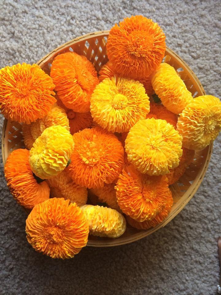 Homemade Paper Marigolds Favorite Diy S Crepe Paper Crafts