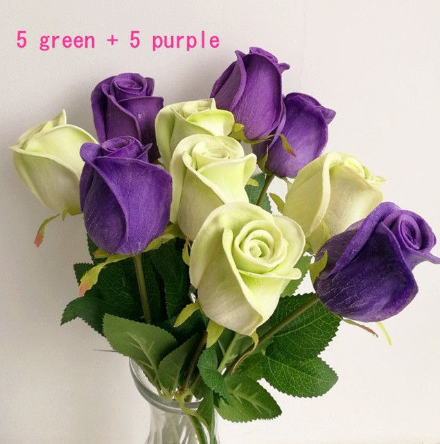 Real Touch Rose Simulated Fake Flower Latex Roses 43cm for Wedding Party Artificial Decorative Flowers 8 Colors