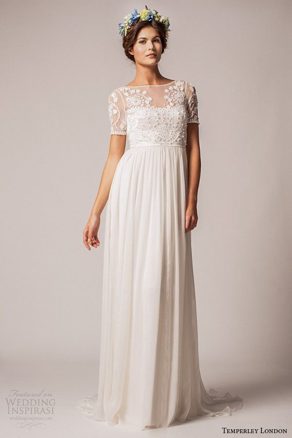 Temperley London Fall/Winter 2015 Wedding Dresses | Wedding Inspirasi. Wedding Dresses - illusion sleeves