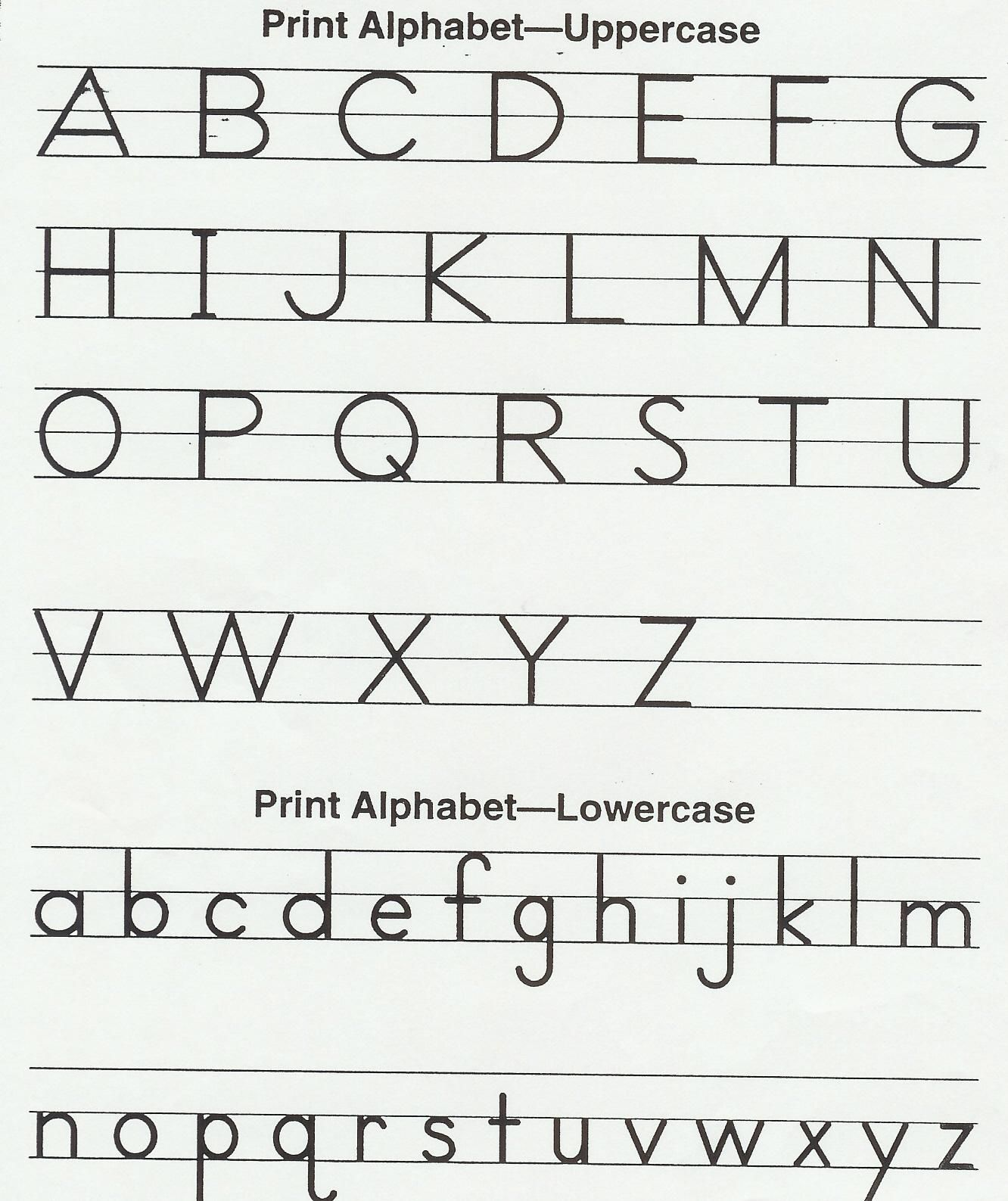 English Alphabet Writing Practice Sheets For Kindergarten