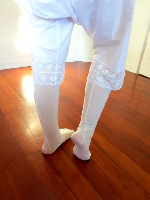 Tutorial & Pattern: Making your own seamed stockings (The ...