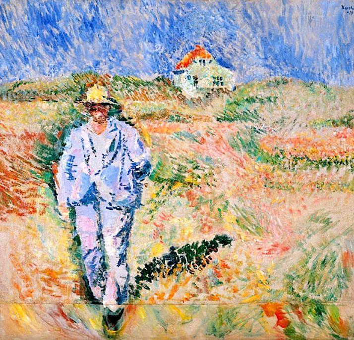 "bofransson: "" Karsten, Ludvig (1876-1926) - 1924 Man in White in Landscape in Skagen """