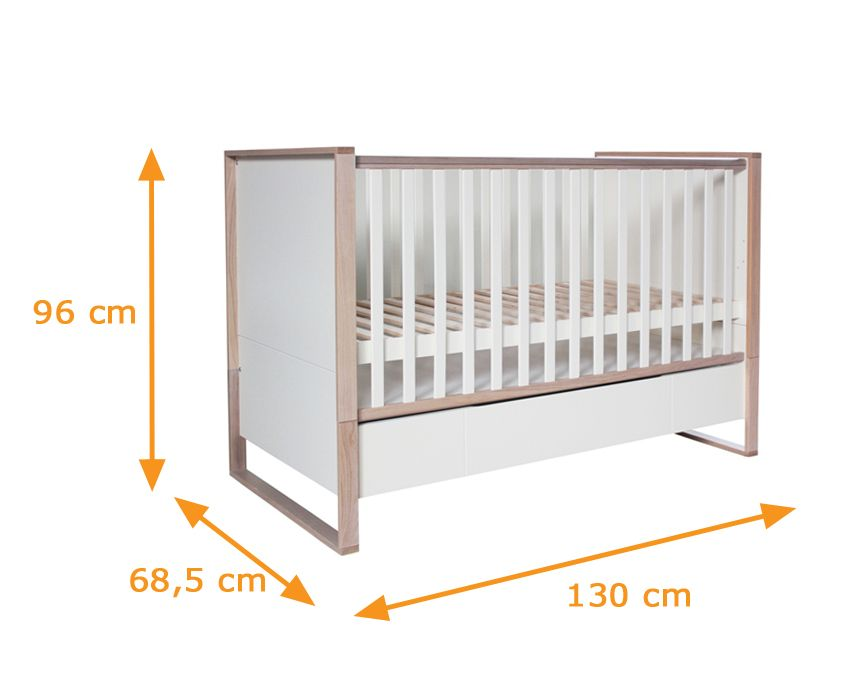 natura scandinavian baby cot with drawer baby 39 s room. Black Bedroom Furniture Sets. Home Design Ideas