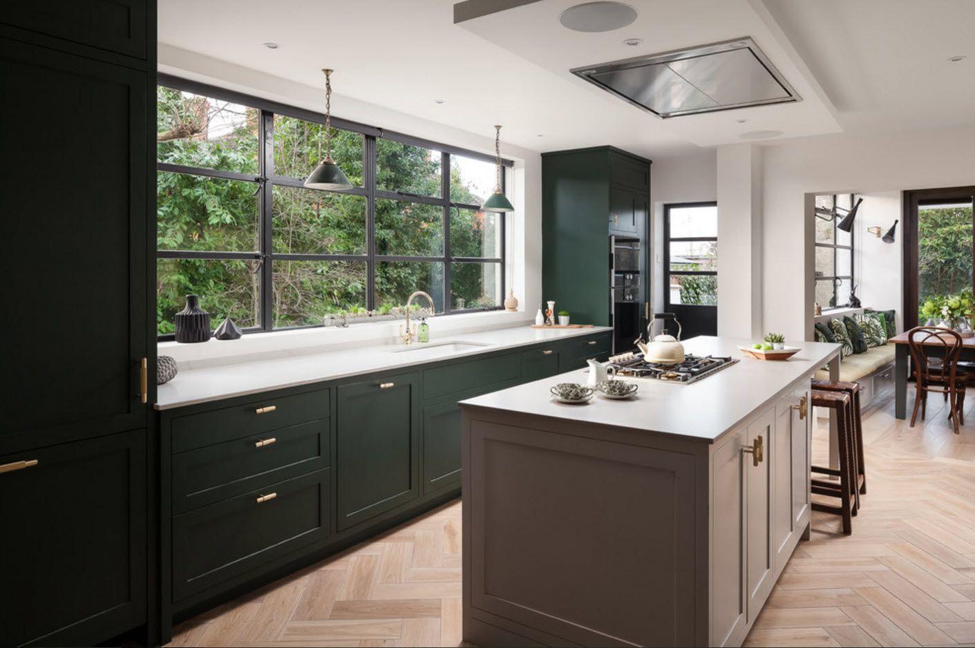 Küchendesign 2018 küchendesign in einem privaten haus  innenraum von   küche